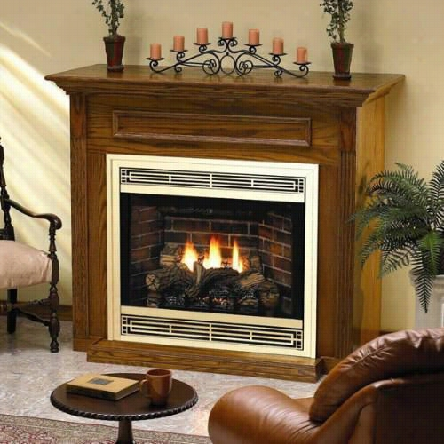 "Empire Comfort Systems Dvp-42-fp91 Tahoe Premium 42"""" Dv Rf Variable Flame Fireplace With Thermostat Remote"