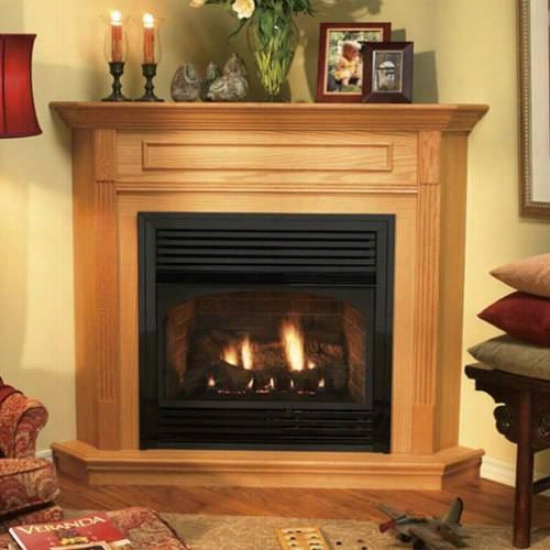 Epire Comfort  Systems Embc-11s Standard Corner Cabinet Mantle With Base For Vail 2 Series Only