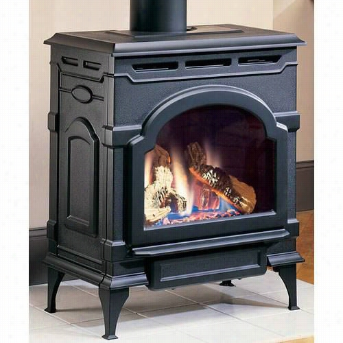 Majestic Oxdv20nvsb Oxford Cast Iron Natural Ga S Direct Vent Stove In Classsc Black With Insta-flame Ceramic Burner