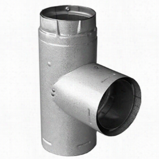 """M&aamp;g Duravent 3pvp-tad Pelletvent Pro 3"""""""" Inside Diameter Adapter Tee With Clean-out Tee Cap In Stainless Steel"""
