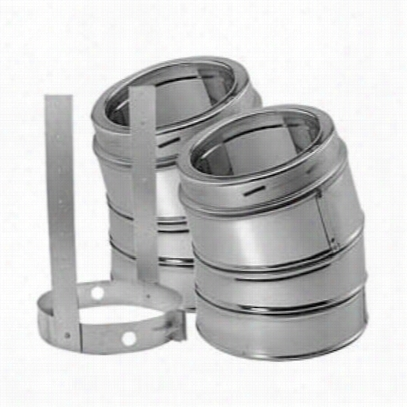 M&g Duravent 6dt-e15kss 15 Deggree Elbow Kit Stainless Steeel (incl 2 Elbows And 1 Elbow Strap)