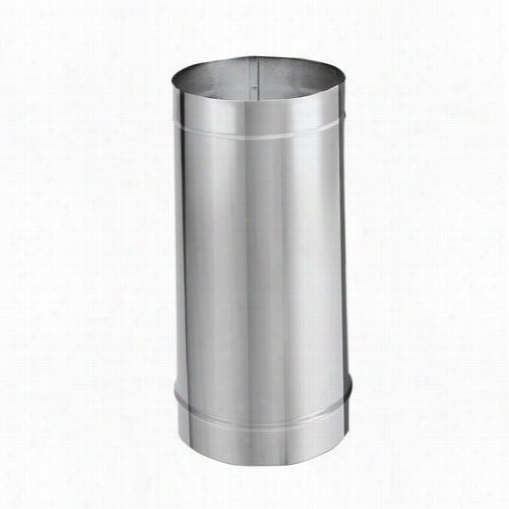 "M&g Duravent 8dbk-21ss 8"""" X 12"""" Single Wall Stainless  Steel Stove Pipe Straight Lenngth"