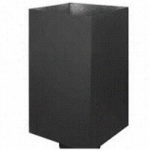 Metalbest16005424  Cathedral Ceiling Black Support Box Direct Temp 5 X 8in Pipe