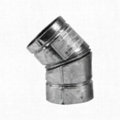 Metalbest 243215b 45 Angle Black Vp Pellet Vent 3in Diameter