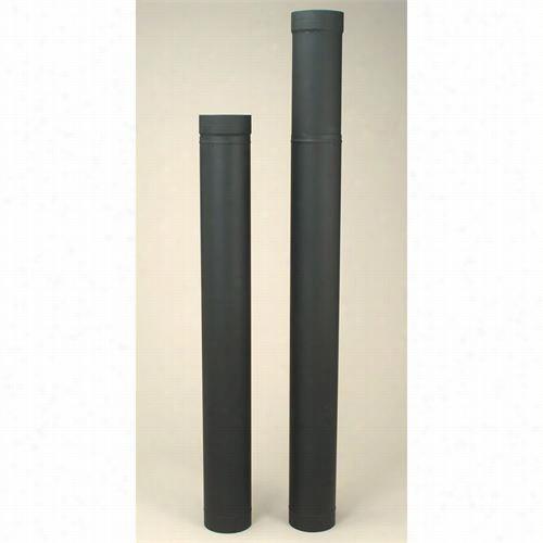 "Metalbest 2606b Saf T Pipe 6"""" X 38"""" To 70"""" Telescoping Pipe In Black"