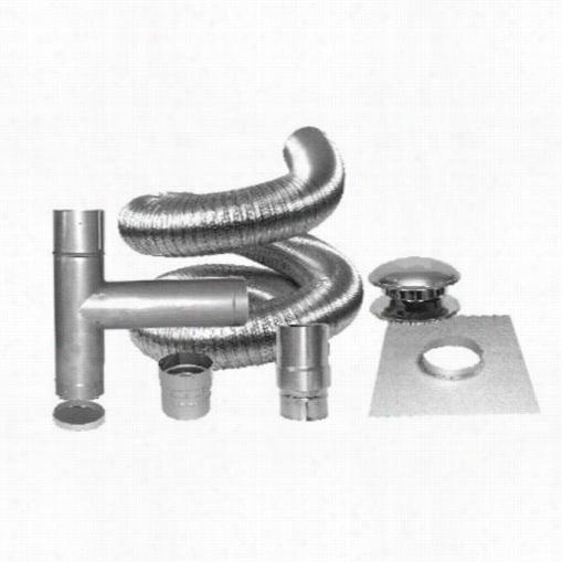 """Metalbest 5rf25 Kt  Versa-liner 5""""quot; X2 5' Complete Flex Ikt In Stainless Steel"""