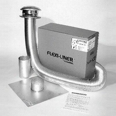 "Metalbest Af15-03 Flexi 3"""" X 15' Flexiblel Ined Termination Kit In Aluminum"