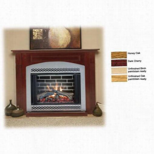 "Monessen Csh32u-o 32"""" Unfinished Oak Corner Cabinet Surround With Base Concerning Dfx32 Fireplace Sy Stems"