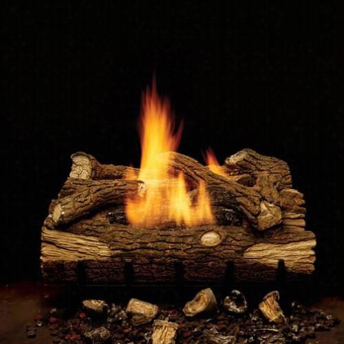 "Monessen Eyf18-r~eyf18 18"""" Mountain Oak 4 Piece Multi Log Set With Millivolt Control 18"""" Eyff 28,000 Btu Natural Gas Burner"