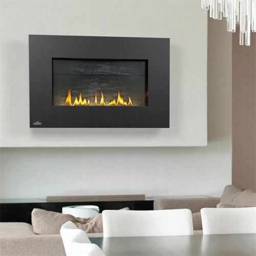 Napolen Whvf31 Vent Freee Plazmafireâ™ W All Hanging Fireplace By The Side Of Sslate Brick Panel