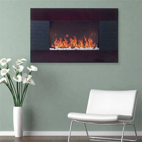 Trademzrk Fideplaces 80-15725 Even Glow Mahogany Wood Trim Electric Fireplace Heater