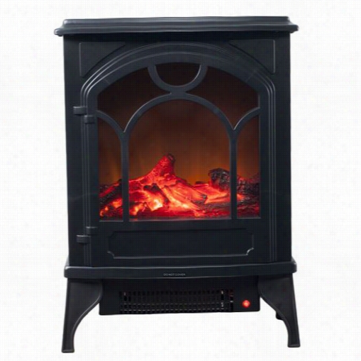 Trademark Fireplacds 80-wsd013  Freestanding Classic Electric Log Fireplace In Black