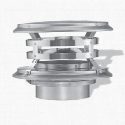 """M&g Duravent 55dffs-vc 5-1/2"""""""" Duraflex Vertical Cap In Stainless Steel"""