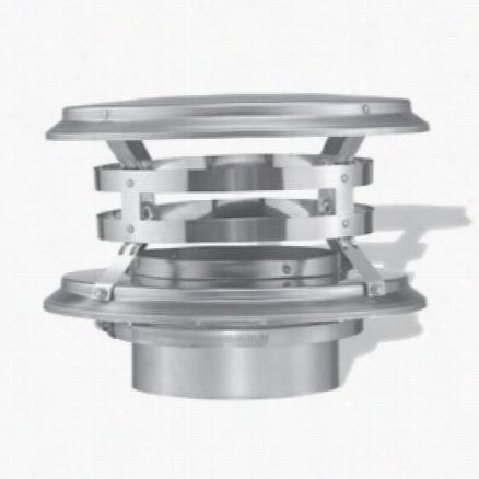 "M&g Duravent 5dfs-vc 5"""" Duraflex Vertical Cap In Stainless Stel"