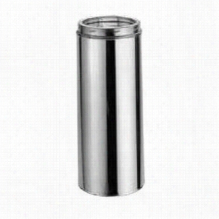 """M&g Duravent 7dt-24ss Duratech 7"""";"""" X 24"""""""" Stainless Steel Class A Double Wall Chimney Pipe Length"""