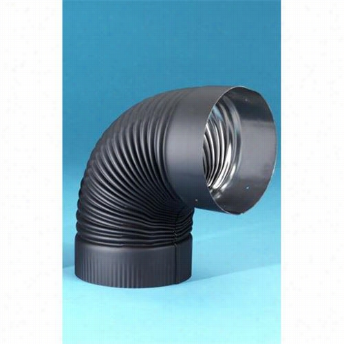 """Mealbest 2614b Saf T Pipe 6"""""""" 90 Degree Fixed  Elbow In Black"""