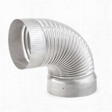 """Metalbest 4814flex Saf T Liner 304 8"""""""" 90 Degree Elbow To Fit 1/4"""""""" Flex"""