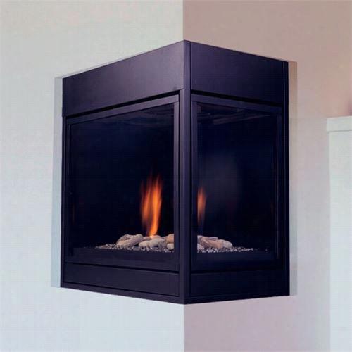 "Monessen Clldvp Arlington Designer 36"""" Clean Face Left Corner Direct Vent Fireplace"