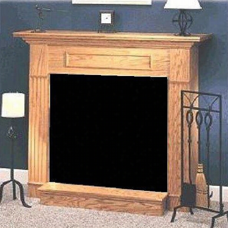 """Monessen Wsh24f-h 24"""""""" Honey Oak Cabinet Surround With Base Fo Dbx24/dfx24 Fireplace Systems"""