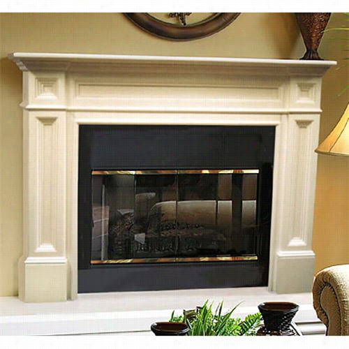 Pearl Manrels 140-566 The Classique Flush Mount Mantel Surround  56w X 42h Incomplete Only