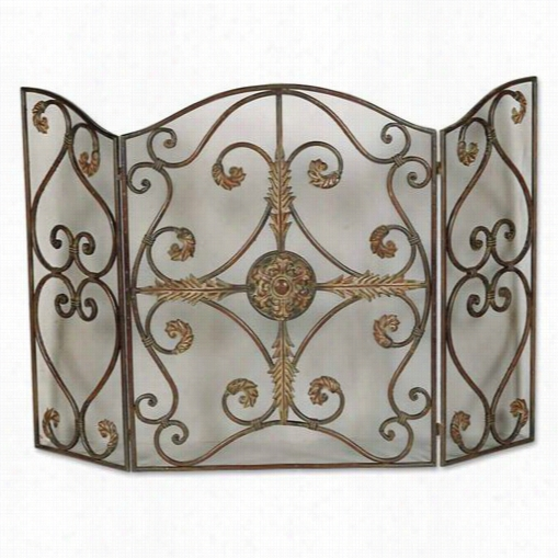 Uttermost 20536 Jerrica Fireplace Screen In Light Brown And  Ahogany Undercotas