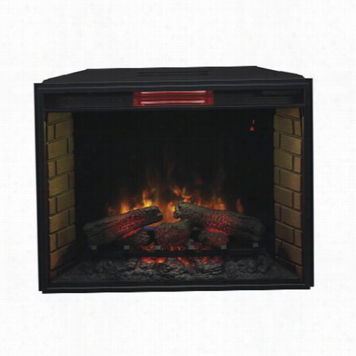 """Classic Flame 33ii310gra Electric Insert 33"""""""" Infrared Spectrafire Plus With Safer Plug In Black"""