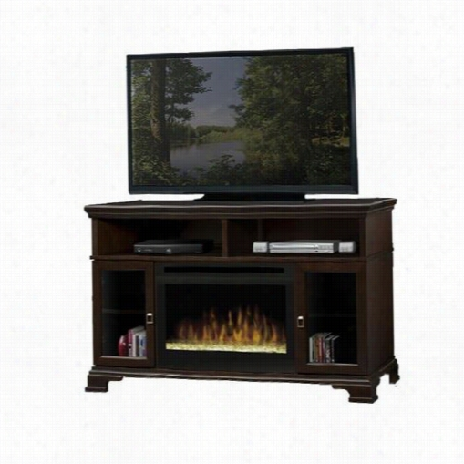 Dimplex Gds25 Brookings Media Console Lightning-like Fireplace With Glass Ember Bed
