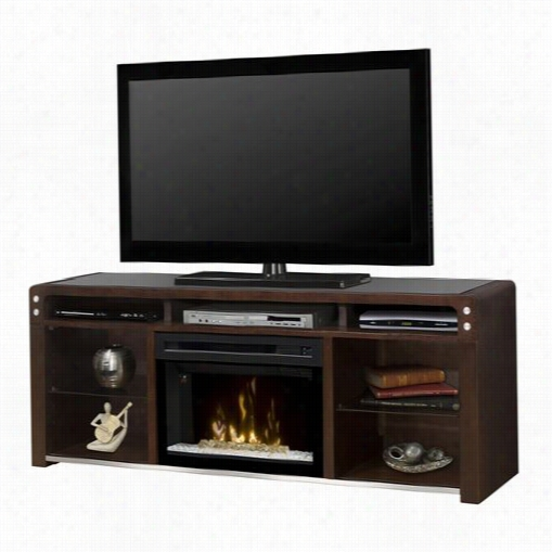 Dimpleex Gds25g-1434 G Alloway Electric Fireplace Media Console With Acryylic Ice