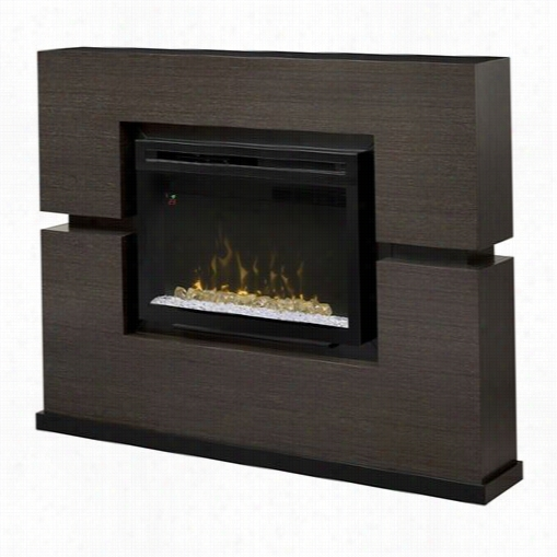 Dimplex Gds33hg-1310rg Linwood Electric Fireplace In Rift Rey Wiht Acrylic Ice