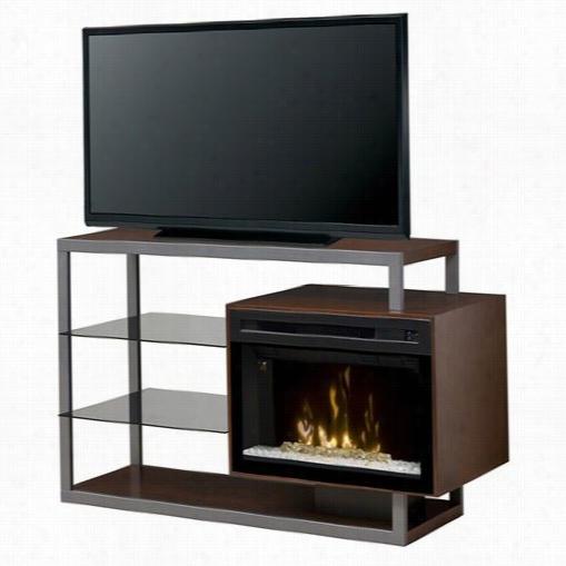 Dimplex Gdds25hg-1307wn Hadley Duplicate Electric Fireplace Media Consol Ein Walnut Through  Acrylic I Ce