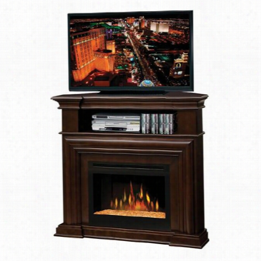 Dimplex Gds25-1057e Gmontgomery Media Consoe Electric Fireplace In Espresso With Galss Ember Bed
