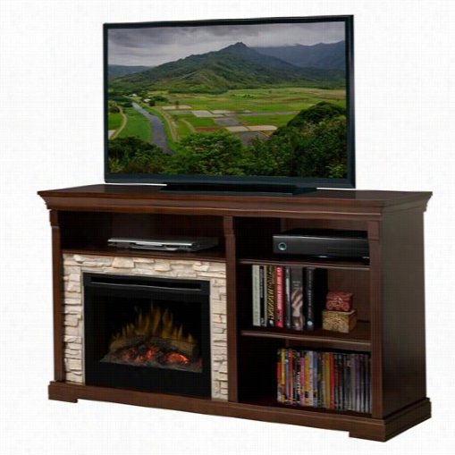 Dimplex Gds225-1269e Edgewood Media Console Electric Fireplace In Espresso With Log Set
