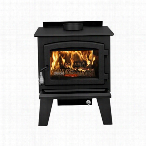 Drolet Db 02610 Ledorado Wood Stove On Legs With Blower Incuded