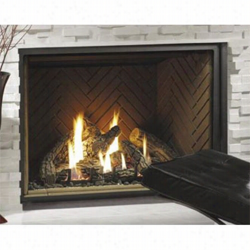 "Kin9sman Hb Zdv4740 47"""" Zero Clearance Direct Vent Gas Fireplace W Ith 8-piece Log Set"