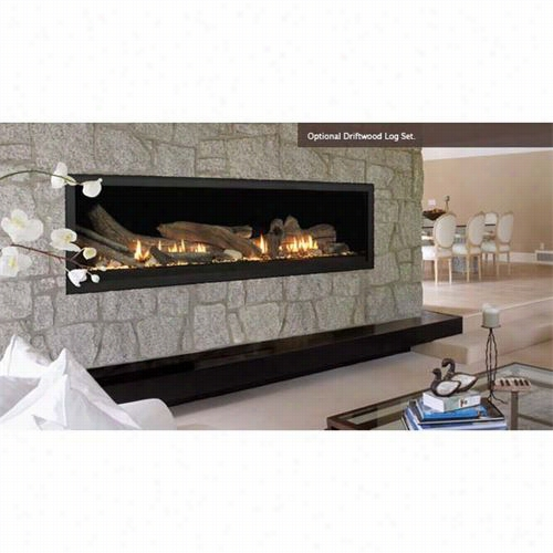 "Majestic Vwdvp70ntsc Aura 0"""" Top Vent Linear Direct Vent Fireplace"