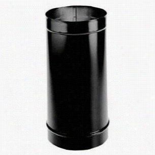 "M& Duravetn 10dbk-12 10"""" X 12&quo;t"" Single Wall Stove Pipe Length In Black"