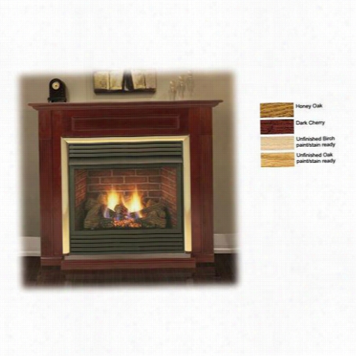 """Monessen Wsh32u-o 32"""""""" Unfinishhed Oak Cabinet Surround With Base For Dfx322 Fireplace Systms"""