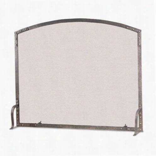 Pilgrim 18329 Single Flaf Panel Fireplace Screen In Forged Iron