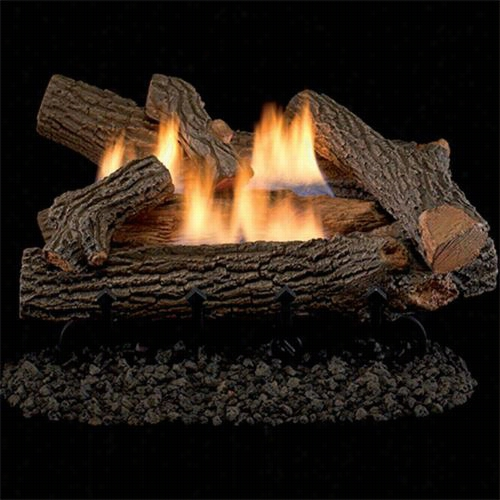 "Superior Fireplaces Lvd18ch-vd1824 18"""" Crescent Hilll Log Set  With 18""""/24"""" Dual Yellow Flame Burner And Manual Control"