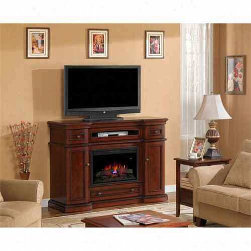 Classic Flame 26mm2490-c233 Montgomery Electric Fireplace Media Cabinet In Vitage Cherry