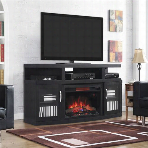 Classi Cflame 26mm5s08-nb04 Cantilever Infrared Electric Fireplace Media Cabiet In Embossing Oak