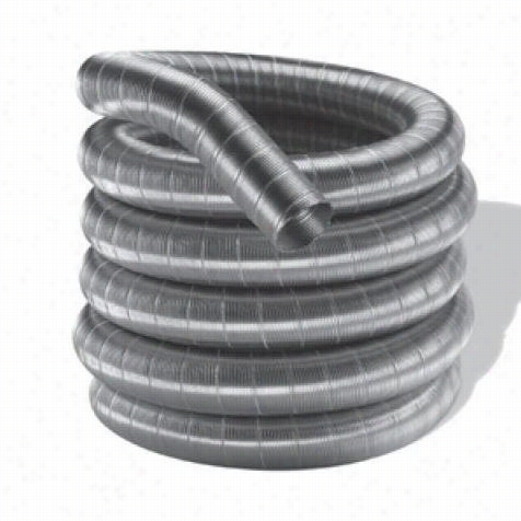 """M&g Duravent 6df316-25 Duraflexss 316 6"""""""" X 25's Ingle Wal Lchimneypipe Length In Stainless Steel"""