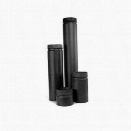 """Metalbest 2704b Saf T Pipe 7"""""""" X 18"""""""" Stove Pipe In Black"""