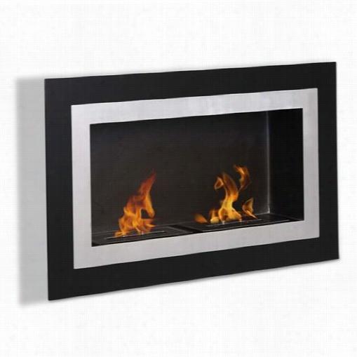 Moda Flame Gf102401bk Ronda Wall Mounted Ethanol Fireplace