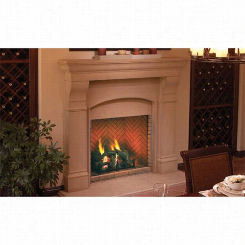 """Of Higher Rank Fireplaces Dvf36 36"""""""" Sentinel Herringbone Red Direct Vent Fireplace"""