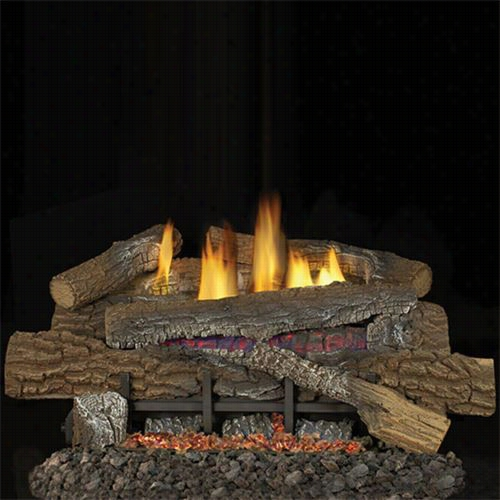 "Superior Fireplaces Lbg18bm-bgee18 18""&quo T;b Oulder Mountain Log  Set With 18""&qhot; Ramp Buner, Loose Ember And Thermostat Control"