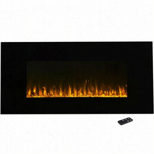 """Trademark Fireplaces 80-2000a-42 42""""&q Uot; Led Fire And Ice Eleectric Fiirepllace In Black With Remote"""