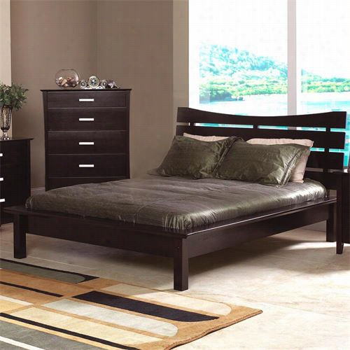 Coaster Equipage 5631q Stuart Contemporary Queen Platform Bed With Slat Headboard
