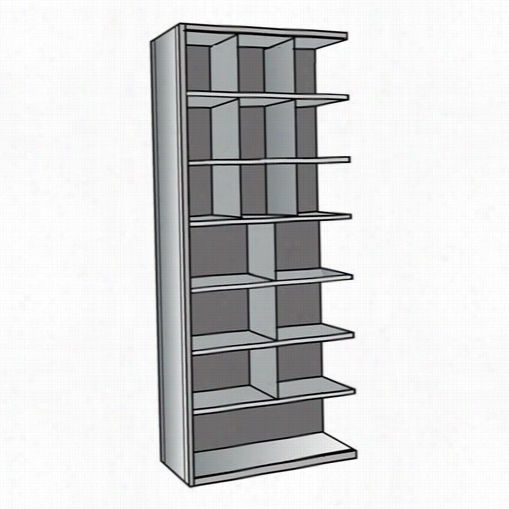 "Halloewll A5533-12hg 36""&auot;w X 12""""d X 87""&quo;h Add-on Unit Hi-tech Metzl Bin Shelving In Gray"