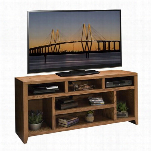 "Legend S Furniture Cl1209.gdo Cify Loft 66"""" Tv Console Ingolden Oak"
